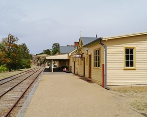 The historic railway station in Gundagai in Australia