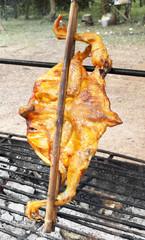 roast chicken in thailand market