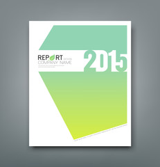 Cover Report number 2015 and eco green abstract