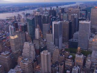 Aerial vews of New York City, USA