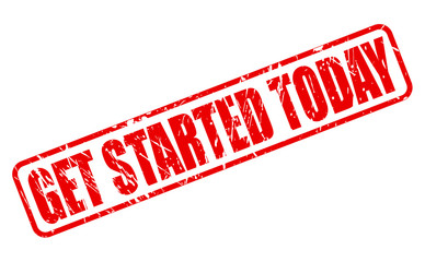 Get started today red stamp