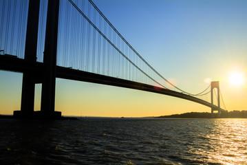 Views of New York City, USA. Verazzano Narrows Bridge.