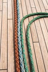 Deck ropes on Tall Ship