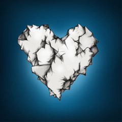 Zerknittertes Herz