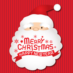 Merry christmas and happy new year, Santa claus