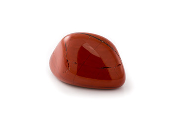 Red jasper gem white background