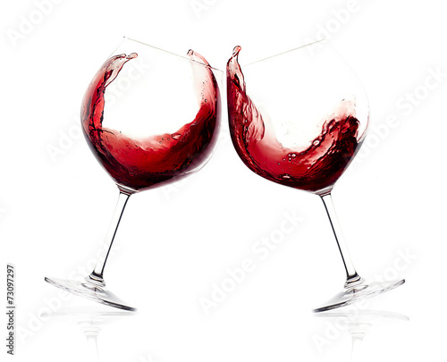 Papiers peints Vin Cheers. A Toast with Red Wine. Splash