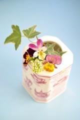 紅茶缶の花