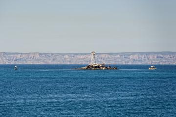 abandoned lighthouse on island