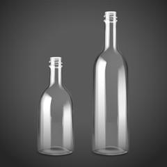 empty glass bottle set