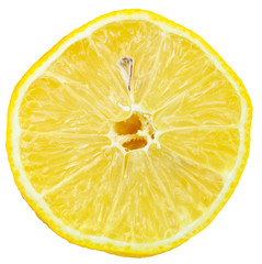 lemon cut in half isolated on white