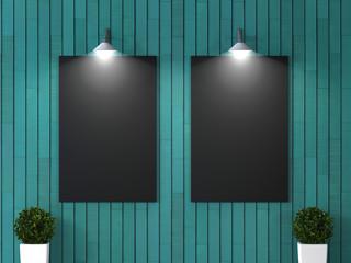 Интерьер комнаты с пустой картиной