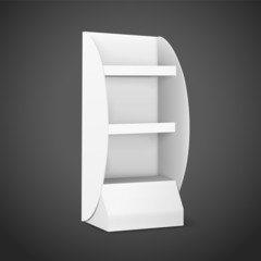 blank displays with shelves