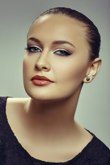 Gorgeous alluring young woman portrait