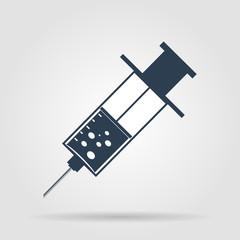 syringe Flat Icon , isolated on white background