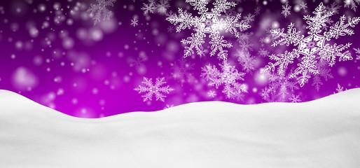 Winterlandschaft, Schnee, verschneit, Hintergrund, lila, violett