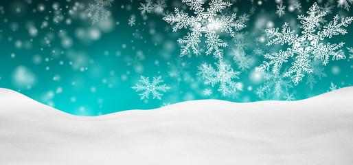 Winterlandschaft, Schnee, verschneit, Hintergrund, türkis