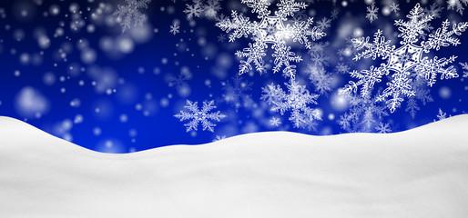 Winterlandschaft, Schnee, verschneit, Hintergrund, blau