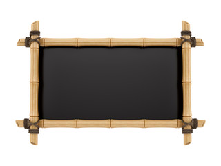 render of a bamboo sign, isolated on white