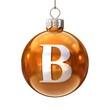 Colorful Christmas ball font letter B