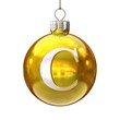 Colorful Christmas ball font letter C