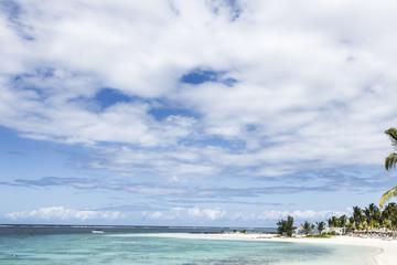 mauritius island sea under a cloudy sky.