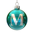 Colorful Christmas ball font letter M