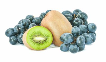 kiwi and grapes