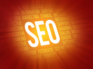 SEO Search Engine Optimization concept focused background