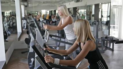 exercise on cardio fitness equipment