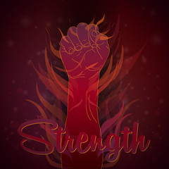 Strength by human hand