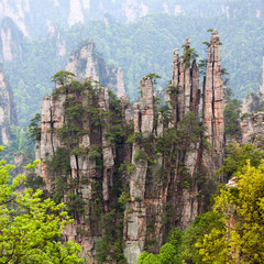 Zhangjiajie National Forest Park in Hunan Province, China