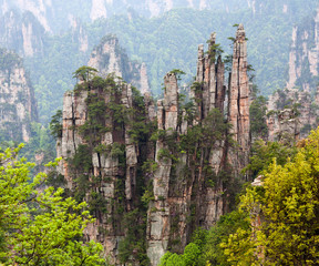 Zhangjiajie National Forest Park in Hunan Province, China.