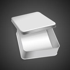 3d blank metal box template