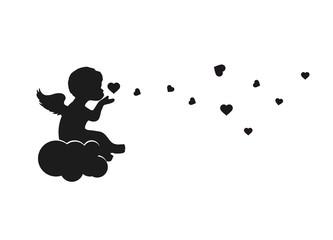 Engel auf einer Wolke
