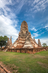 Old Temple wat Chaiwatthanaram of Ayuthaya Province