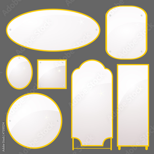 Vector set of mirrors of different shapes - 73101214