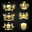 Golden heraldry set - 73101604