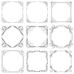 Set of square frame