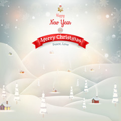 Merry Christmas Landscape. EPS 10
