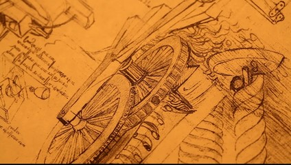 14th Century Leonardo da Vinciengineeringdrawing