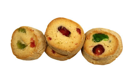 Freshly baked Ice box Cookies with dried fruit