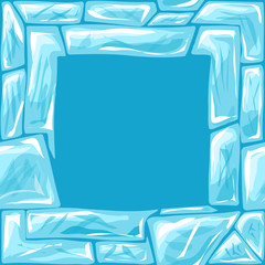 square frame on Ice seamless pattern