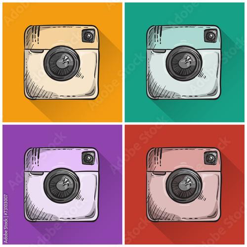 Set of drawn photo icons. - 73103007