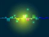Abstract green yellow equalizer background - 73104001