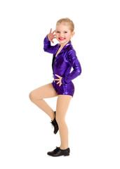 Tap Dance Kid in Sassy Recital Costume