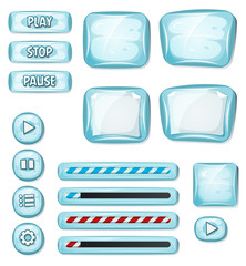 Cartoon Icy Elements For Ui Game