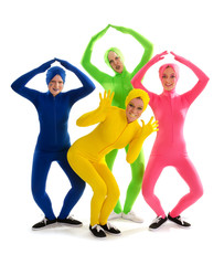 Strange Theatrical Dance Group in Condom Suits