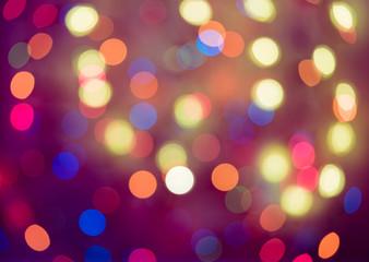 Holiday bokeh. Abstract Christmas background, christmas lights