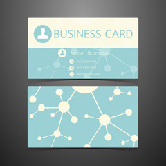 Business Cards atom design. Vector illustration